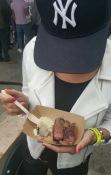 Enjoying my steak from HAWKSMOOR