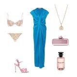 Gown: LanvinShoes: GucciClutch: Jimmy Choo lingerie: Heidi Klum Intimates Perfume: Rose Des Vents by Luis VuittonNecklace: Links of London