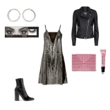 Dress: MCQ, Jacket: Set, Shoes: Dior, Lashes: HUDA Beauty, Lip GLoss: Sephora, Earrings: Chan Luu, Clutch: Lee Savage