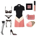 Dress: Valentino Red, Lingerie: Agent Provocateur, Tights: Wolford, Shoes: Christian Louboutin, Handbag: Alexander McQueen, Make Up set: Bobbi Brown, Champagne truffles: Charbonnel Et Walker